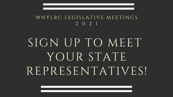 Announcing our slate of 2021 legislative meetings. Sign up to join a Zoom meeting with your local representatives!