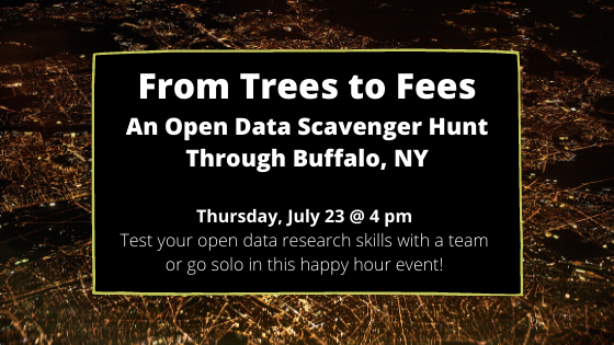 Join our open data scavenger hunt on Thursday, July 23 at 4:00 pm.